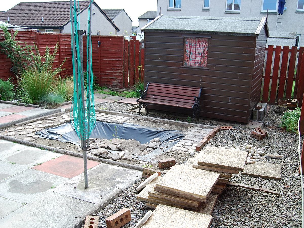 Before Landscaping in Stirling